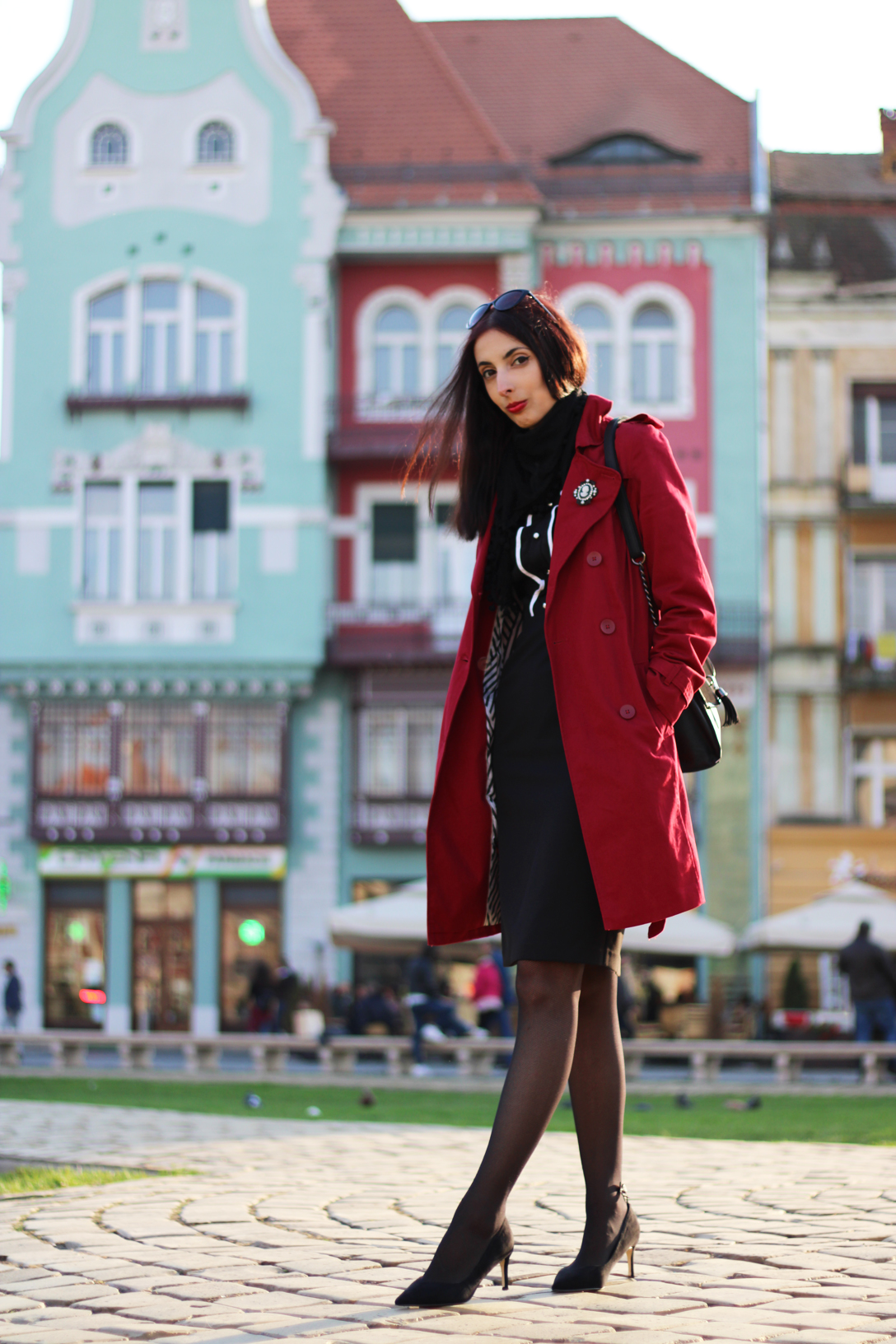 The best red trenchcoat