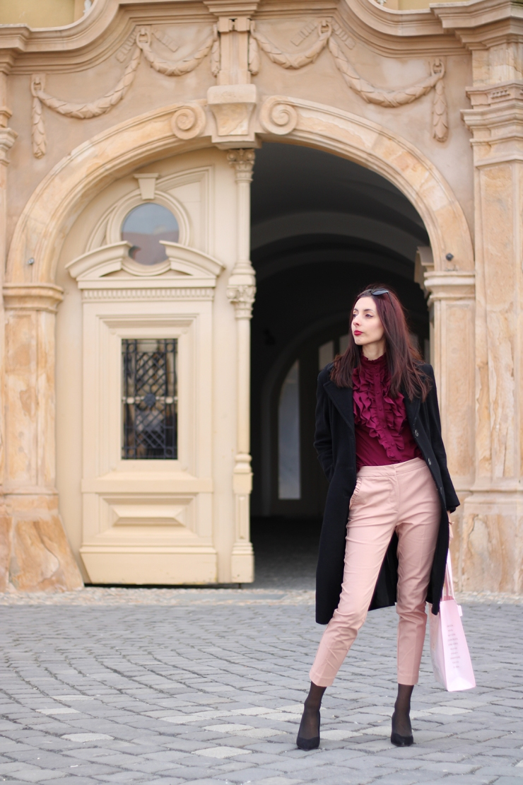 Transitional Winter to Spring Ted Baker outfit