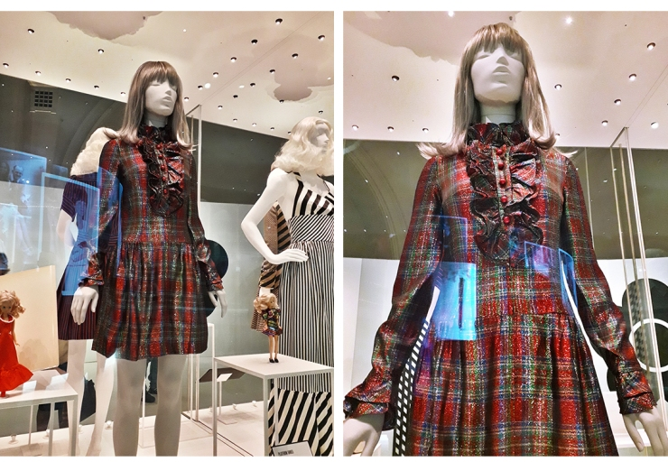 Quant tartan lurex dress