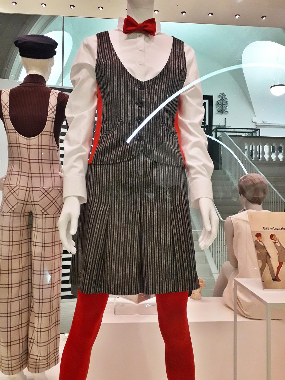 Mary Quant tuxedo dress