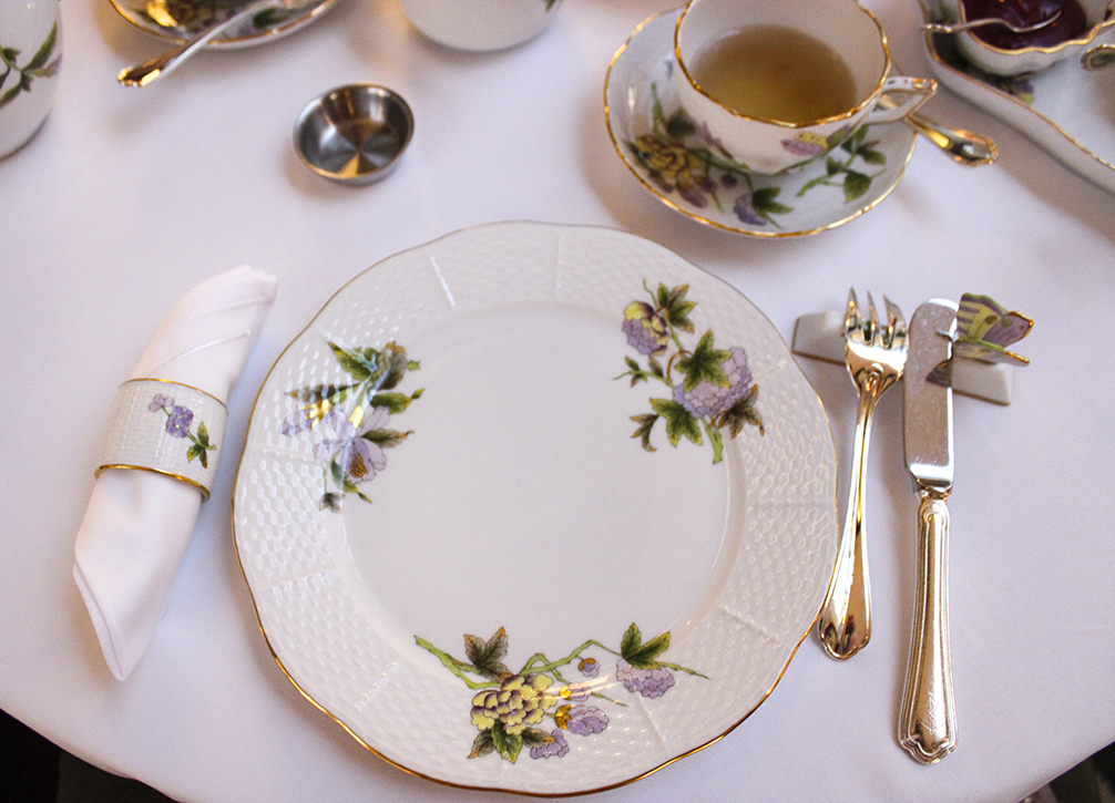 Herend Tea experience at the Four Seasons