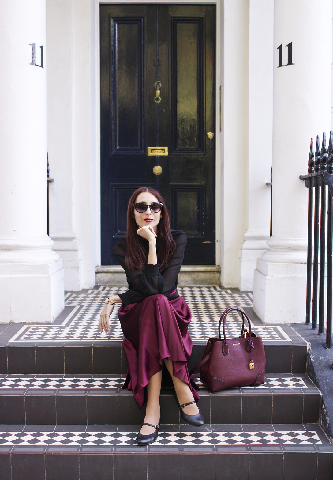 The perfect autumn midi skirt