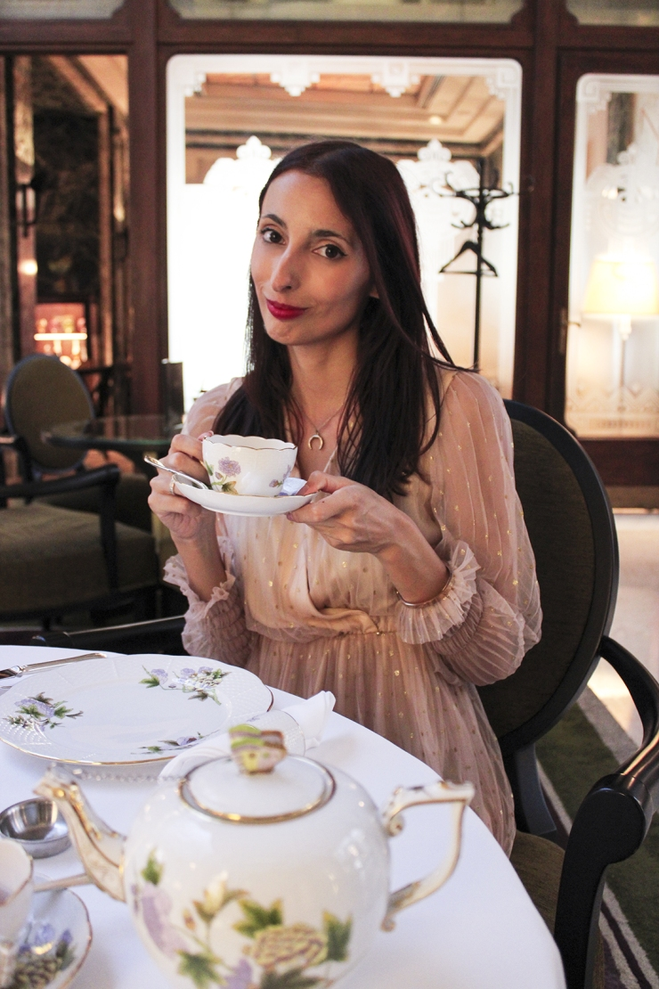 Tea at the Four Seasons Hotel in Budapest