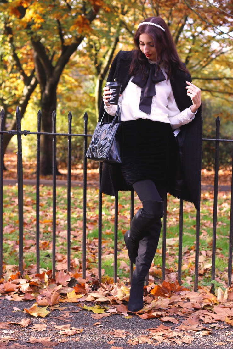 blair waldorf inspired autumn outfit