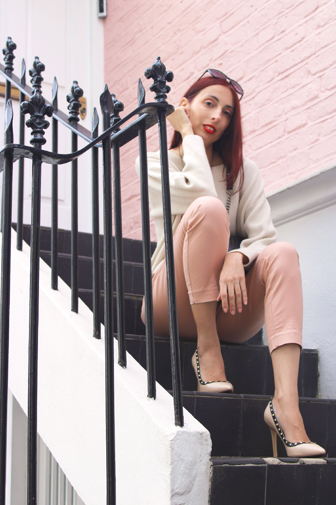 A pastels transitional outfit